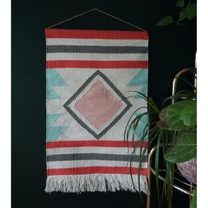 vtg handcrafted woven wall art